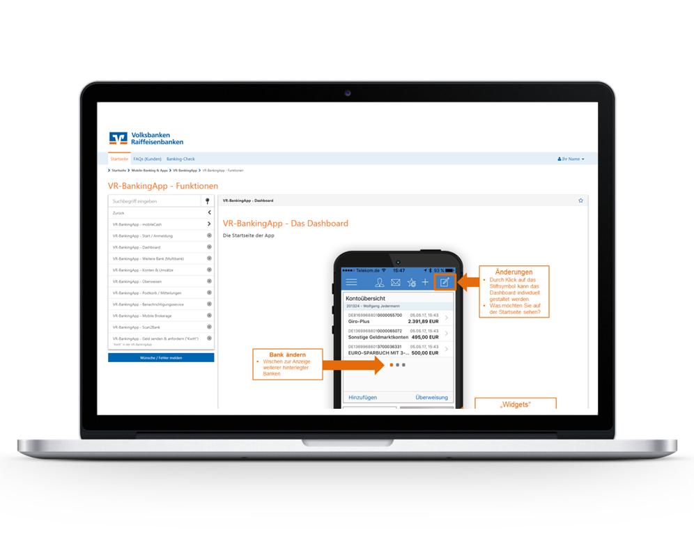 Die Online-Trude hat viele Schaubilder als Anleitung und Demonstration für Kunden.